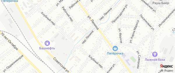 Переулок Ленина на карте Туймаз с номерами домов