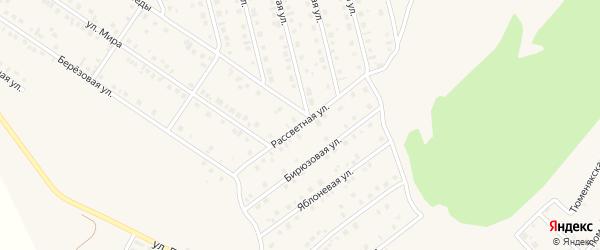 Рассветная улица на карте села Райманово с номерами домов