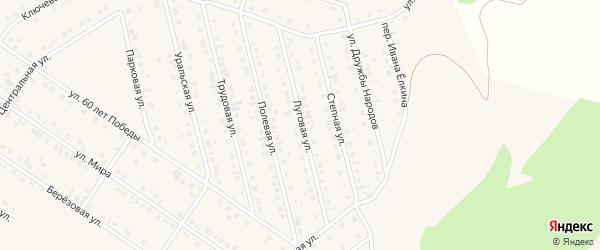 Луговая улица на карте села Райманово с номерами домов