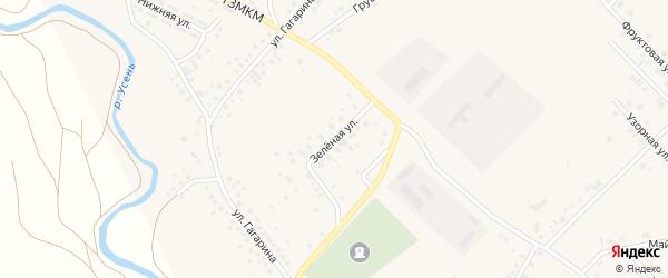 Зеленая улица на карте села Райманово с номерами домов