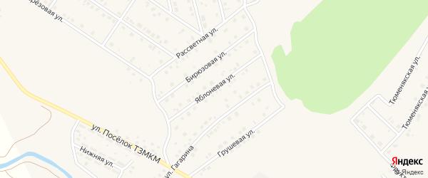 Яблоневая улица на карте села Райманово с номерами домов