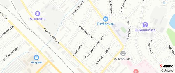 Хлебная улица на карте Туймаз с номерами домов