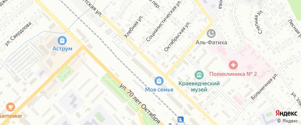 Советская улица на карте Туймаз с номерами домов