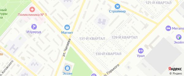 131-й квартал на карте Туймаз с номерами домов