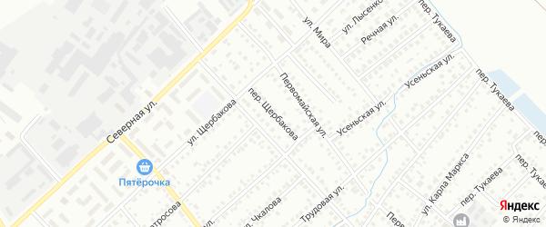 Переулок Щербакова на карте Туймаз с номерами домов