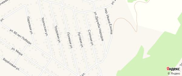 Степная улица на карте села Райманово с номерами домов