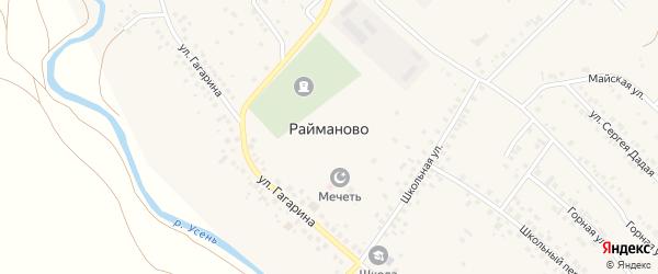 Зеленый переулок на карте села Райманово с номерами домов