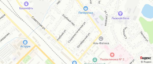 Социалистическая улица на карте Туймаз с номерами домов