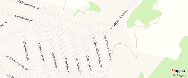 Улица Дружбы народов на карте села Райманово с номерами домов