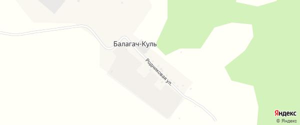 Родниковая улица на карте деревни Балагача-Куля с номерами домов