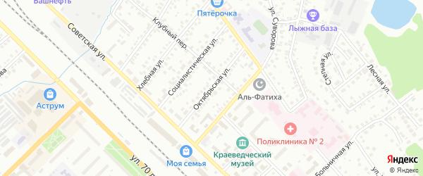 Октябрьская улица на карте Туймаз с номерами домов