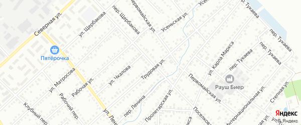 Поселковая улица на карте Туймаз с номерами домов