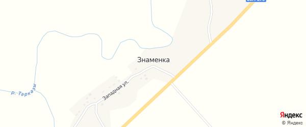 Восточная улица на карте села Знаменки с номерами домов