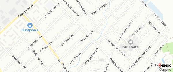 Трудовая улица на карте Туймаз с номерами домов