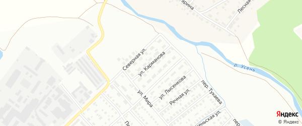 Улица Карманова на карте Туймаз с номерами домов