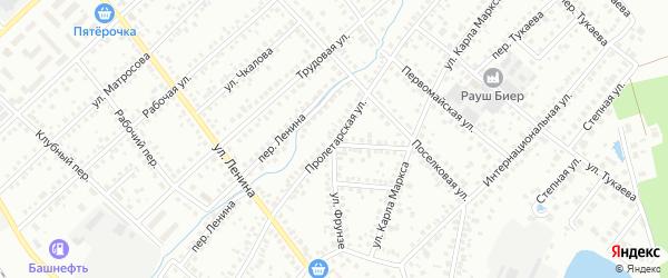 Пролетарская улица на карте Туймаз с номерами домов