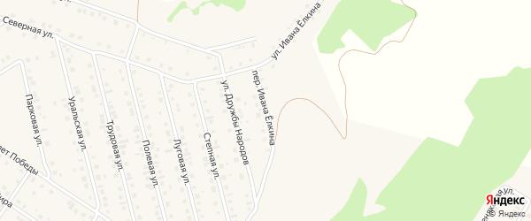Улица Ивана Елкина на карте села Райманово с номерами домов