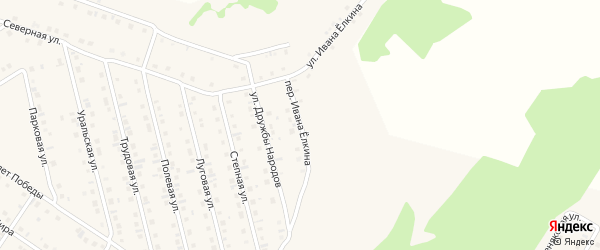 Переулок Ивана Елкина на карте села Райманово с номерами домов