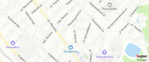 Улица Фрунзе на карте Туймаз с номерами домов