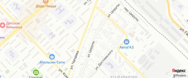 Улица Цюрупы на карте Туймаз с номерами домов