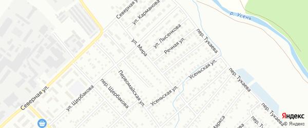 Улица Мира на карте Туймаз с номерами домов