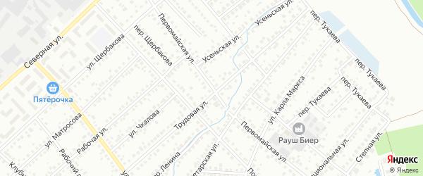 Первомайская улица на карте Туймаз с номерами домов
