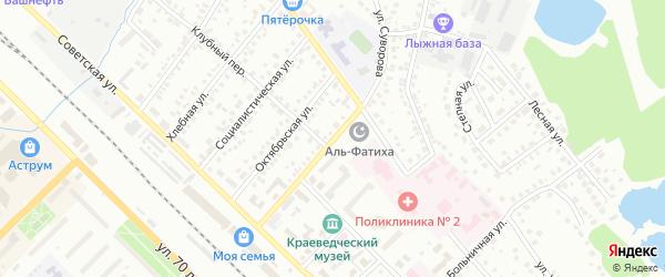 Улица Суворова на карте Туймаз с номерами домов