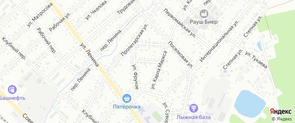 Улица Лумумбы на карте Туймаз с номерами домов