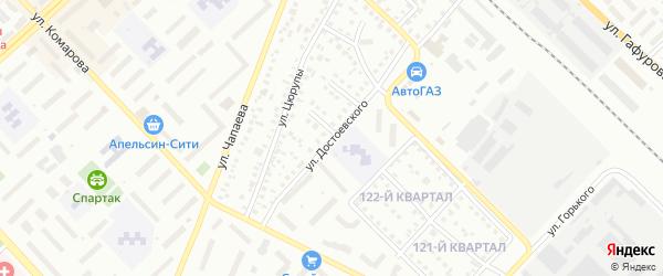 Улица Достоевского на карте Туймаз с номерами домов