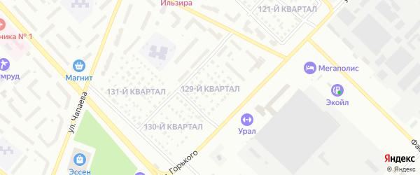 129-й квартал на карте Туймаз с номерами домов
