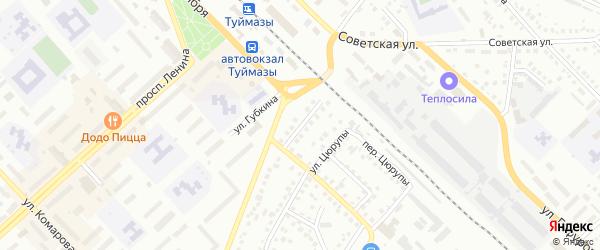 Мостовая улица на карте Туймаз с номерами домов