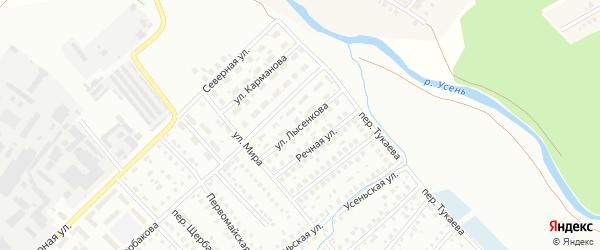 Улица Лысенкова на карте Туймаз с номерами домов