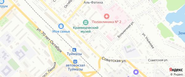 Улица К.Цеткин на карте Туймаз с номерами домов