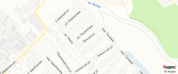 Речная улица на карте Туймаз с номерами домов