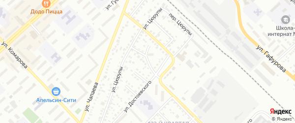 Переулок Достоевского на карте Туймаз с номерами домов