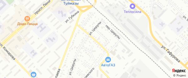 Мостовой 1-й переулок на карте Туймаз с номерами домов