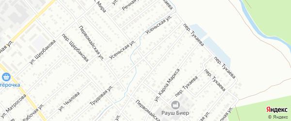 Трудовой переулок на карте Туймаз с номерами домов