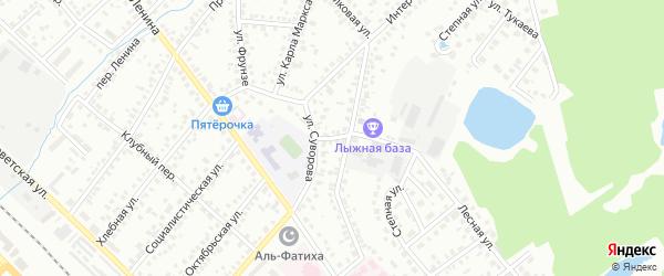 Переулок Суворова на карте Туймаз с номерами домов