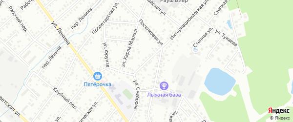 Комсомольская улица на карте Туймаз с номерами домов