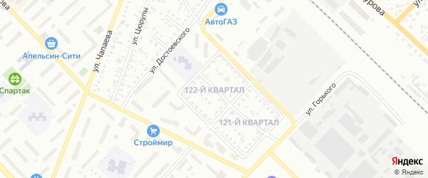 122-й квартал на карте Туймаз с номерами домов