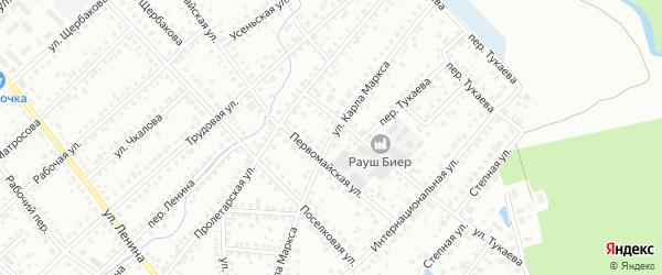 Улица К.Маркса на карте Туймаз с номерами домов