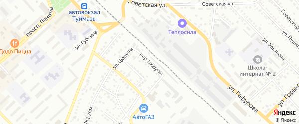 Переулок Цюрупы на карте Туймаз с номерами домов