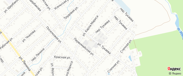 Улица Тукаева на карте Туймаз с номерами домов