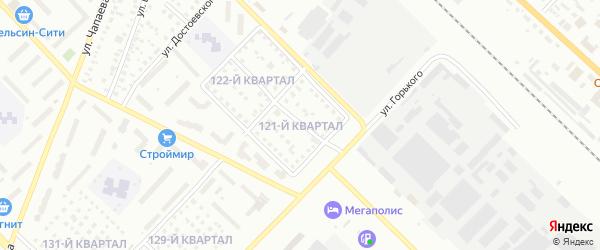 121-й квартал на карте Туймаз с номерами домов