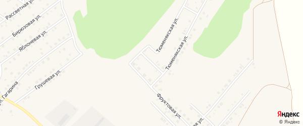 Тюменякский переулок на карте села Райманово с номерами домов