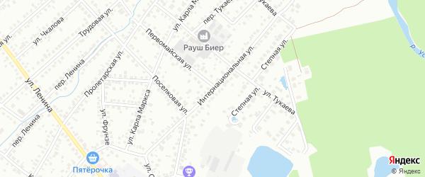 Интернациональная улица на карте Туймаз с номерами домов