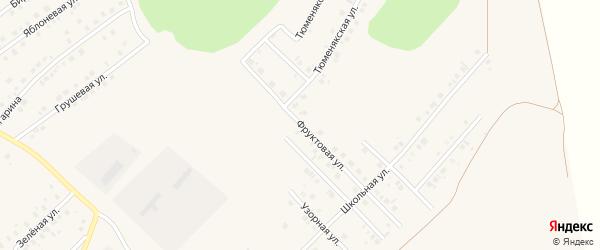Фруктовая улица на карте села Райманово с номерами домов
