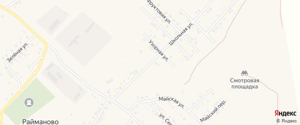 Школьная улица на карте села Райманово с номерами домов