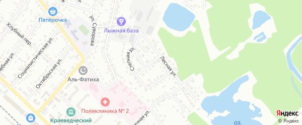 Больничный переулок на карте Туймаз с номерами домов