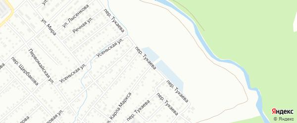 Переулок Тукаева на карте Туймаз с номерами домов